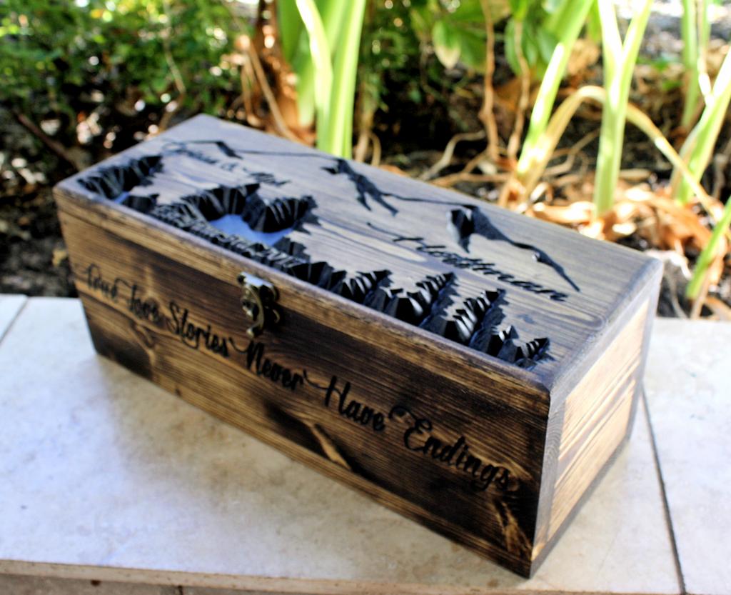 Featured Wine box Design: Mountains (Design #347)