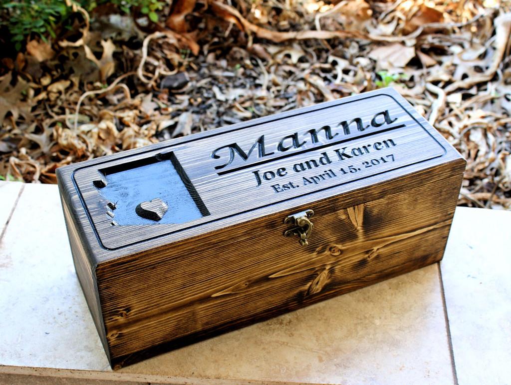 Featured Wine box Design: Wine box with Arizona State  (CWD-438)