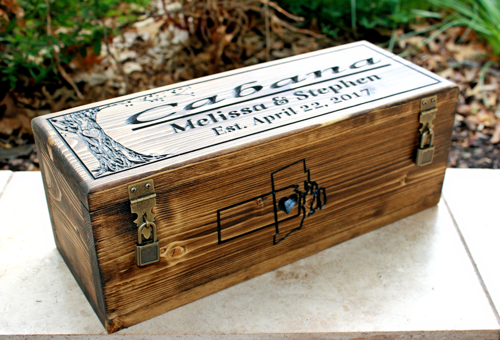 New Design: Wedding Wine box with tree of life (CWD-445)