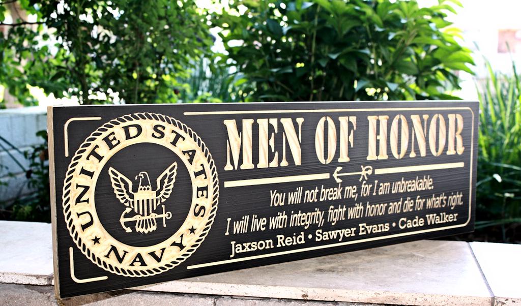 MAN OF HONOR, U.S. Navy plaque