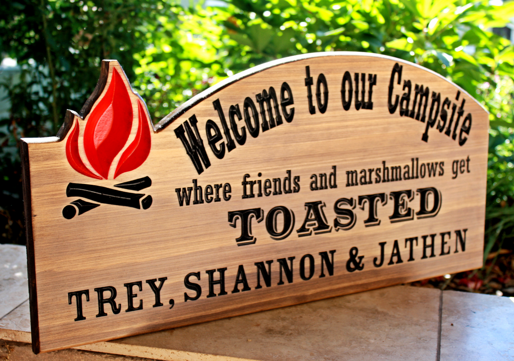 Welcome to our Campsite Sign