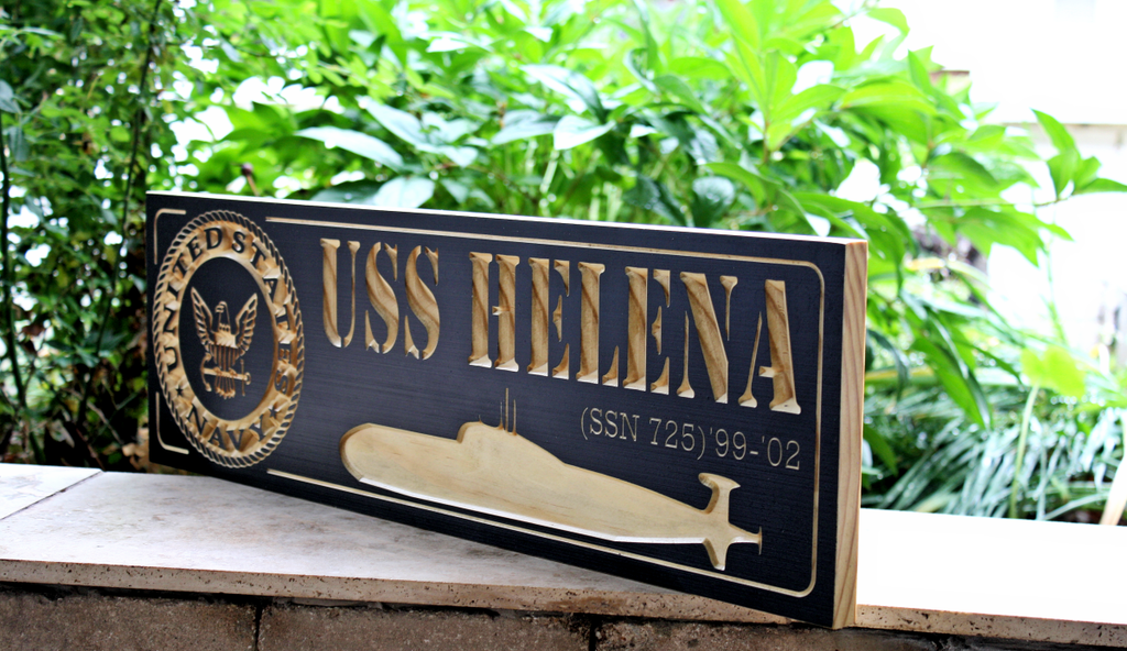 USS Helena (SSN 725) Submarine Sign (CWD-469)