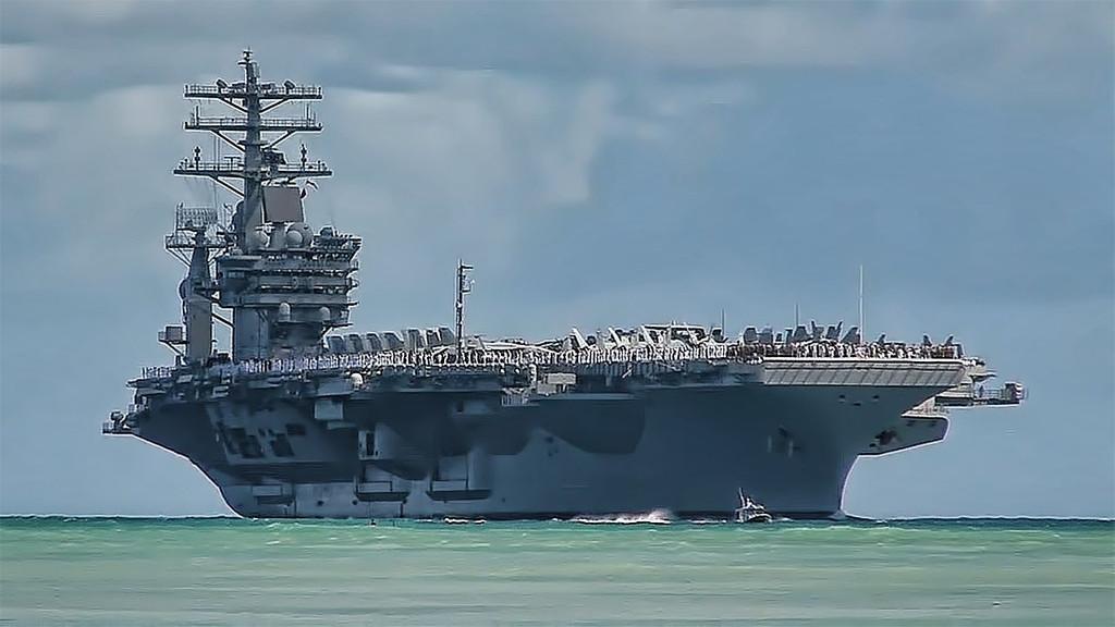 New Design: NAVY Sign with USS Nimitz