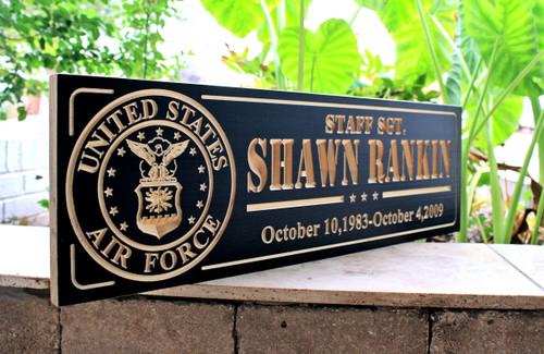custom military sign
