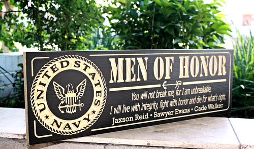 Man of Honor, U.S. Nave Plaque