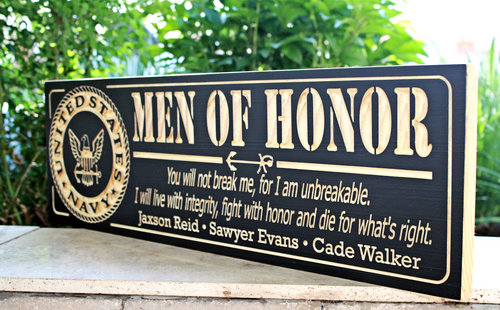 Man of Honor, U.S. Nave Plaque(CWD-451)