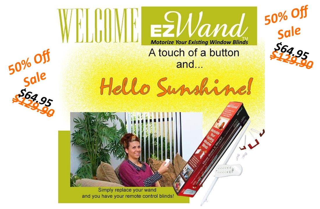 Vertical Blinds Automation EzWand