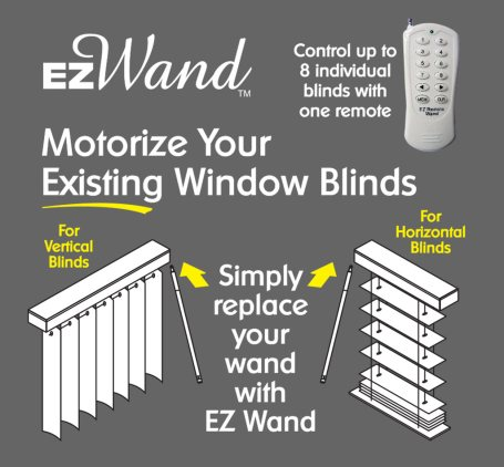 Motorize and automate your window blinds by replacing your for Motorized blinds remote control