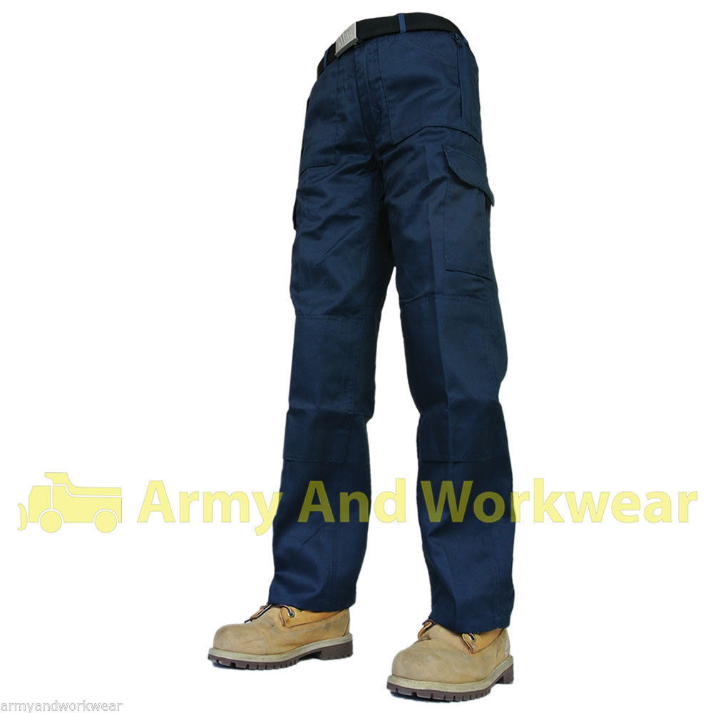 Ladies Baratec Active Cargo Work Trousers in Navy Blue