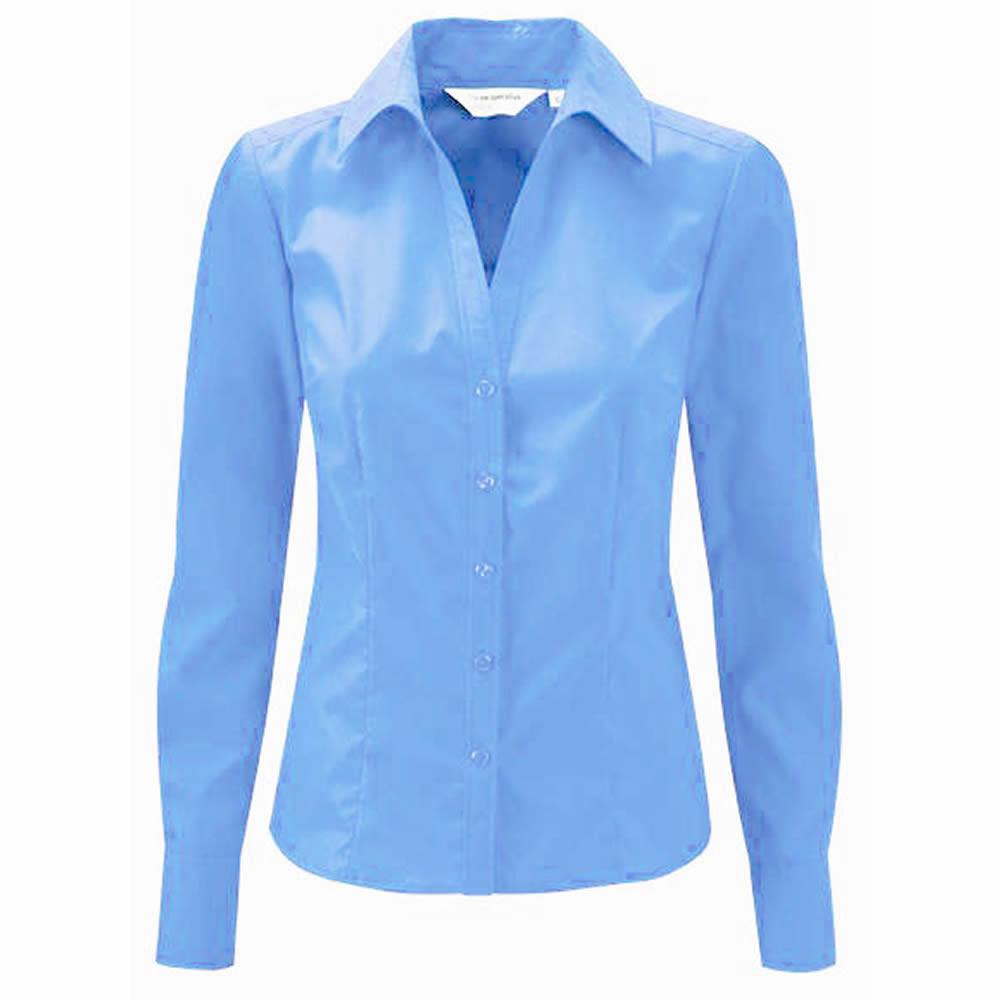 Ladies Blue Long Sleeve Blouse 83