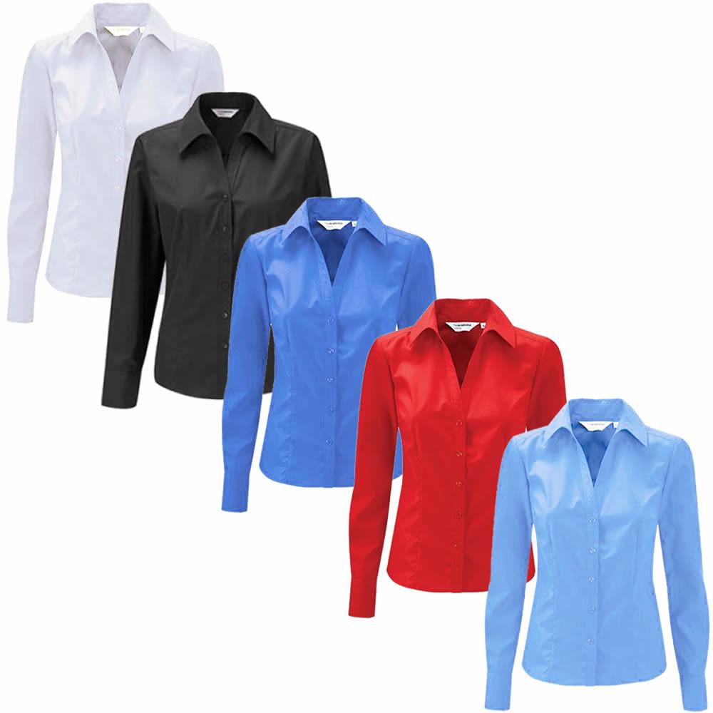 Ladies Blue Long Sleeve Blouse 21