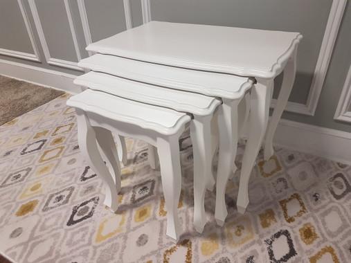 MFS146WH Nesting Table - White