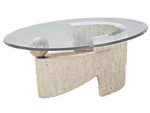 Fossil Oval Cocktail Table