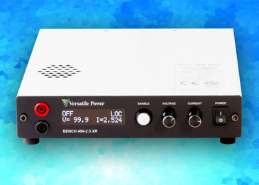 BENCH XR Series are compact Programmable 600W DC Power Supplies with Extended Range. The BENCH XR Series is a high-density 1U design which measures just 1.73 in. (44 mm) High x 8.82 in. (224 mm) Wide x 10.30 in. (262 mm) Deep and Weighs only 5.8 lbs. (2.6 Kg). BENCH XR Series offer output power to 600 Watts, DC output current to 33 amps and DC output voltage to 400V.  Full Digital Control – the Fastest and Most Accurate Available. SCPI Compliant USB with LabVIEW Driver and Analog Control Ports. Digital Encoders for Excellent Reliability and Accuracy. Wireless Digital Remote Sense. Built-In Voltage and Current Measurement. Full OCP (Over-Current Protection) and OVP (Over-Voltage Protection) Protection. The built-in OLED (organic light-emitting diode) front panel simultaneously shows both voltage and current readings, along with ease of setup and complete power supply status information.