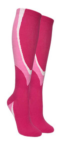 Heavy Cushion Sport Compression Socks - Pink/Light Pink (Size: 9-11) - 1 dozen