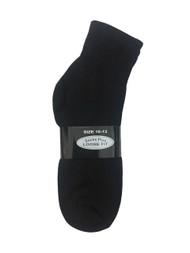 Socks Plus Diabetic Ankle Socks - Black (10-13) - 1 dozen
