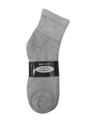 Socks Plus Diabetic Ankle Socks - Grey (10-13) - 1 dozen