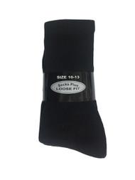 Socks Plus Diabetic Crew Socks - Black (10-13) - 1 dozen