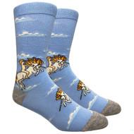 FineFit Novelty Socks - Unicorn Sky Blue (NV075A) - 1 Dozen