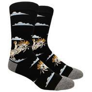 FineFit Novelty Socks - Unicorn Black (NV075B) - 1 Dozen