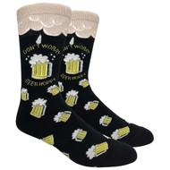 FineFit Novelty Socks - Beer Hoppy Black (NV066B) - 1 Dozen