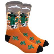 FineFit Novelty Socks - Cool Cactus Orange (NV077A) - 1 Dozen