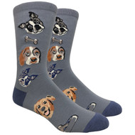 FineFit Novelty Socks - Dog Lovers Grey (NV078B) - 1 Dozen