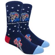 FineFit Novelty Socks - American Rock Navy (NV081A) - 1 Dozen