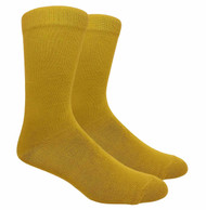 FineFit Plain Dress Socks - Mustard - 1 Dozen