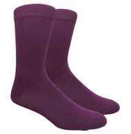 FineFit Plain Dress Socks - Dark Purple - 1 Dozen