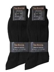 The Hunter Men's Dress Socks - Black (Size: 10-13)