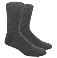 FineFit Plain Dress Socks - Grey - 1 Dozen