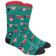 FineFit Novelty Socks - Stars and Stripes (NV008) - 1 Dozen
