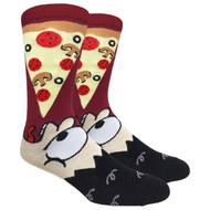 FineFit Novelty Socks - Eat Pizza (NV029A) - 1 Dozen