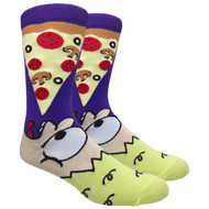 FineFit Novelty Socks - Eat Pizza (NV029B) - 1 Dozen