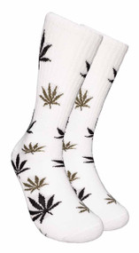 Mad Toro Marijuana Design Crew Socks (TR001)