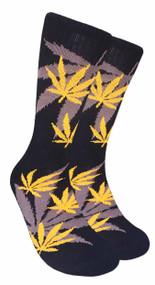 LEAF Republic Marijuana Print Crew Socks (LF001)