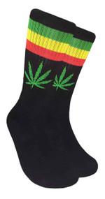 LEAF Republic Marijuana Print Crew Socks (LF016)