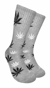 Mad Toro Marijuana Design Crew Socks (TR003)