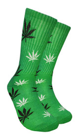 Mad Toro Marijuana Design Crew Socks (TR006)