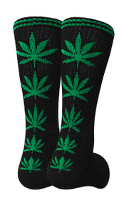 Mad Toro Marijuana Design Crew Socks (TR008)