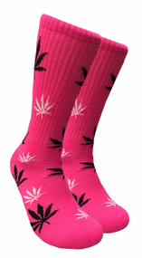 Mad Toro Marijuana Design Crew Socks (TR015)