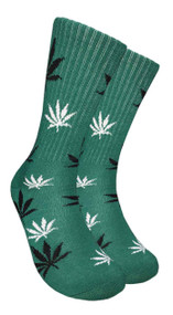 Mad Toro Marijuana Design Crew Socks (TR017)