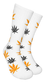 Mad Toro Marijuana Design Crew Socks (TR021)