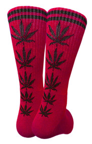 Mad Toro Marijuana Design Crew Socks (TR025)