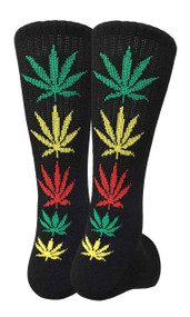 Mad Toro Marijuana Design Crew Socks (TR034)