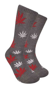 Mad Toro Marijuana Design Crew Socks (TR035)