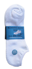 Running Mate Low-Cut Socks - White (SR206W) - 1 Dozen