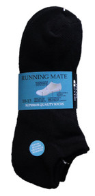 Running Mate Low-Cut Socks - Black (SR206B) - 1 Dozen