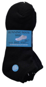 Running Mate Mid-Cut Socks - Black (SR207B) - 1 Dozen